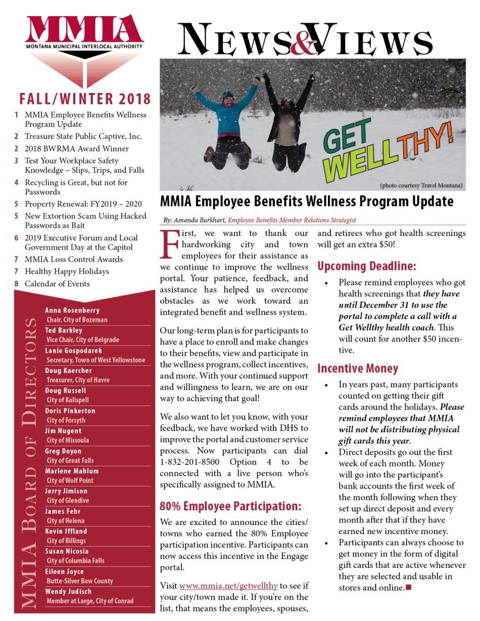 MMIA Newsletter Fall/Winter 2018
