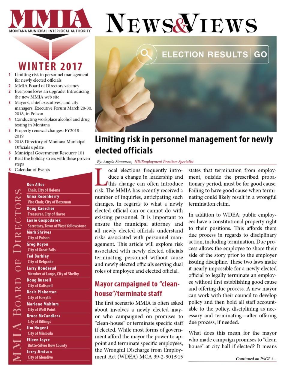 MMIA Winter 2017 Newsletter