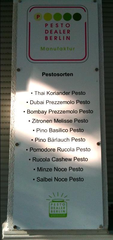 Pesto Manufacture
