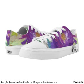 Purple Roses on low tops