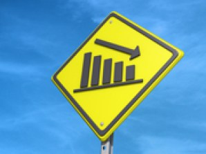 Down Bar Graph Yield Sign