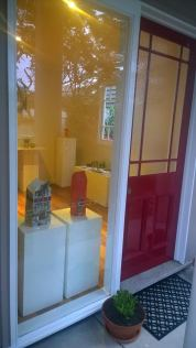 The new red door - entry to Steph's gallery space