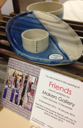 New altered platter with altered container (plus a plug for the opening of SOFA's Makers Gallery event)