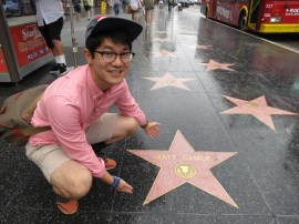 Hollywood Walk of Fame! and the Chinese Theater. aaaand MUJI. wowza.
