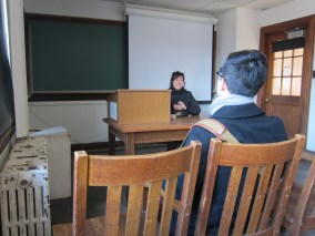 we broke into a classroom and had a small lecture on life and stuff.