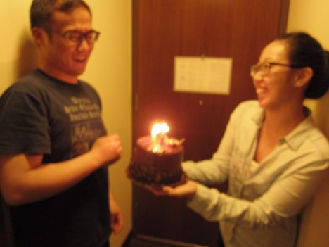 an early BDAY celebration! college style, complete with surprise cakes :):):):)