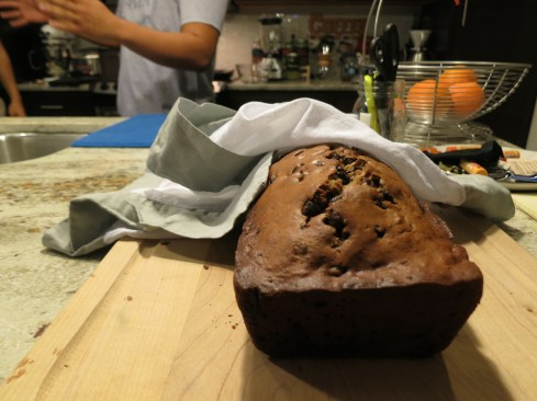 first, he greeted us with choc chip banana bread. it was a good beginning.