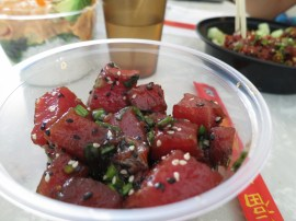 poke! DChang the Hawaiian, so ahead of that food curve. now every time I eat poke, I think of you.