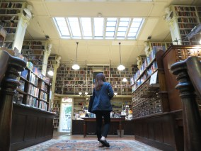 Providence Athenæum, where we browsed stacks of old books and went to the baffroom.