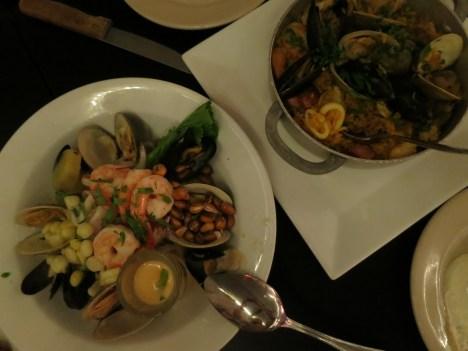 dinner, per Shinny's suggestion. paella, bisteca a la pobre, ceviche. all raveworthy. OH! and sangria ;)