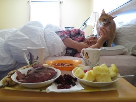 breakfast. in bed. with binky. buh-buh-buh-best.