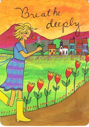 36 Breathe Deeply card