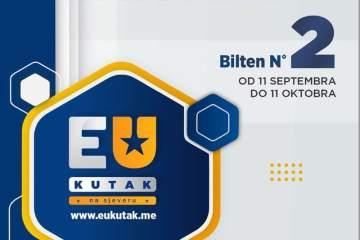Drugi mjesečni informativni elektronski bilten posvećen novostima o procesu pristupanja Crne Gore Evropskoj Uniji i dostupnim sredstvima i fondovima za koje mogu da konkurišu građani, NVO organizacije. Poseban odjeljak ovog biltena posvećen je javnim pozivima za učešće u domaćim i međunarodnim seminarama, treninzima i konferencijama za mlade.