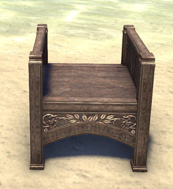 High Elf Armchair, Backless Polished
