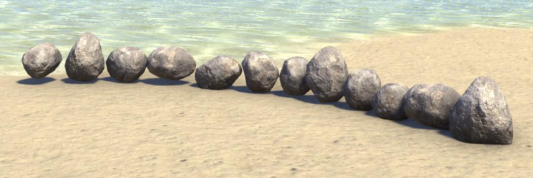 Limestone Border, Stones
