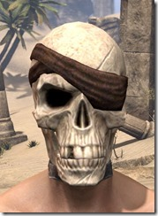 Pirate Skeleton Visage - Male Front
