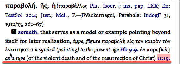 Hebrews 11:19 type, model or example of the violent death and of the resurrection of Christ