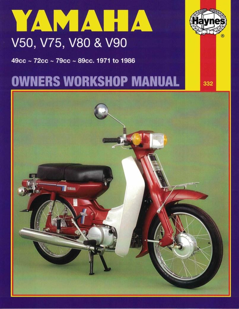 Yamaha V50 Motorcycle Service Manual V 80 Wiring Diagram Haynes V75 V80 V90 71 86 Each 692762000406