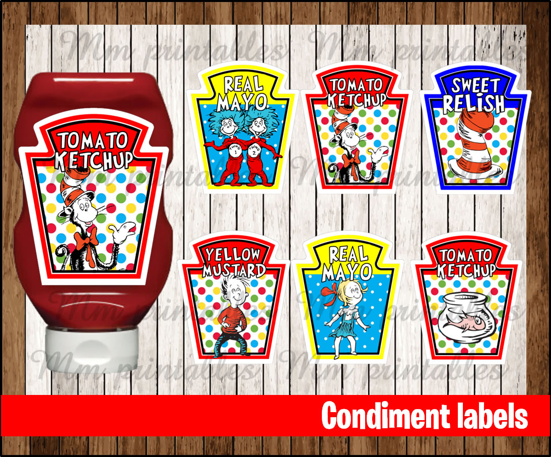 80 Off Sale Cat In The Hat Condiments Label Instant
