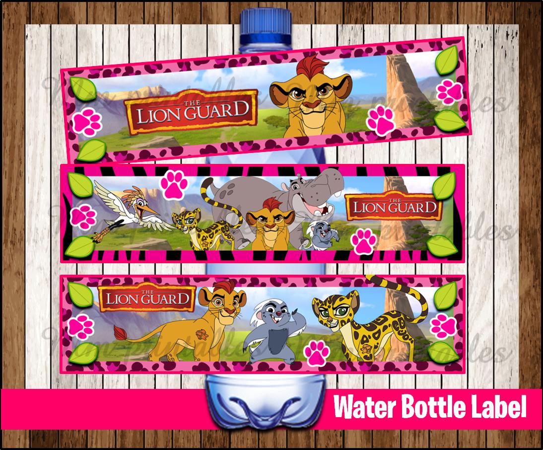 80 Off Sale Lion Guard Girl Water Bottle Label Instant