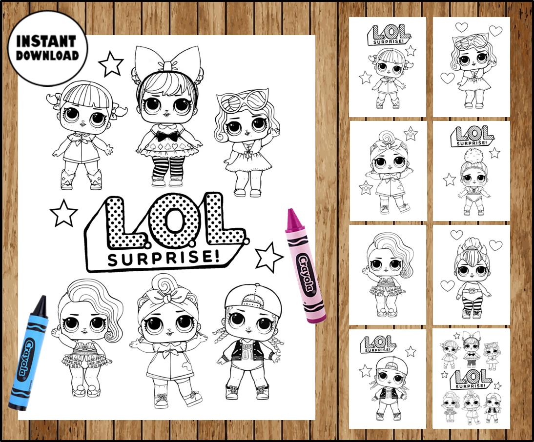 Lol Surprise Dolls Colouring Pages Lol Surprise Dolls