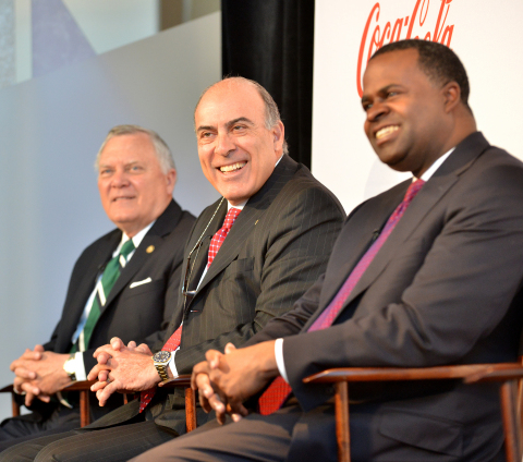 Muhtar Kent, Chairman and CEO of The Coca-Cola Company, joined by Georgia Governor Nathan Deal and C ...