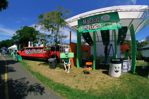 MagicalButter Open-Air Trade Show Booth at Seattle's Hempfest. (Photo: Business Wire)