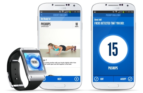 FOCUS TRAINR is a new app that puts the power of a personal trainer on a person's wrist. Available n ...