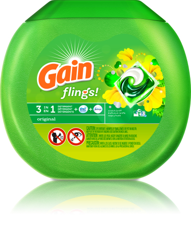 Gain unveils new single-use laundry pac new Gain flings! (Photo: Business Wire)