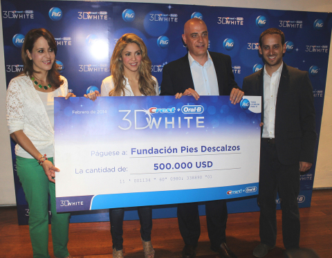 Oral-B and Crest 3D White donate $500,000 (USD) to benefit The Pies Descalzos Foundation, created by ...
