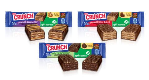 Caption: Los aficionados a las Nestlé Crunch Girl Scout Candy Bars pueden ayudar a enviar a las niña ...