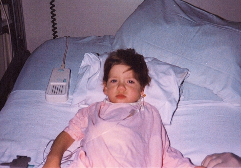 Lizzy Craze, now 32, after her heart transplant surgery in 1984. (Photo: Business Wire)