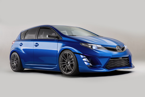 Scion premiered its iM Concept car at the Los Angeles Auto Show on Nov. 19, 2014. (Photo: Business W ...