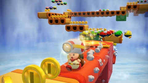 In the Captain Toad: Treasure Tracker game, launching exclusively for the Wii U console on Dec. 5, p ...