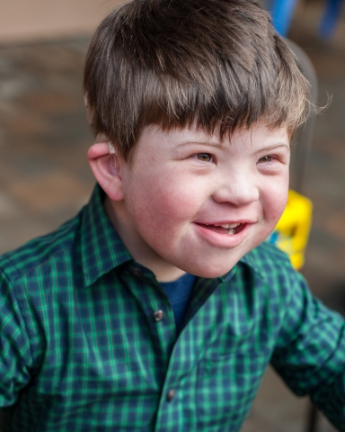 Joshua Copen, 5, born with Down syndrome and hearing loss, has a significantly improved quality of l ...