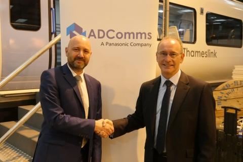 Jason Pearce, Alan Dick Communications (left) and Tony O'Brien, Panasonic (right) (Photo: Business W ...