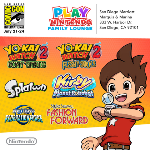 The Play Nintendo Family Lounge will be open to the public July 21-23 from 10 a.m. to 7 p.m. and Jul ...
