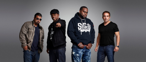(From L-R) King Tech, Sway Calloway, Kxng Crooked and Mike Smith from BET'S NEW REALITY COMPETITION ...