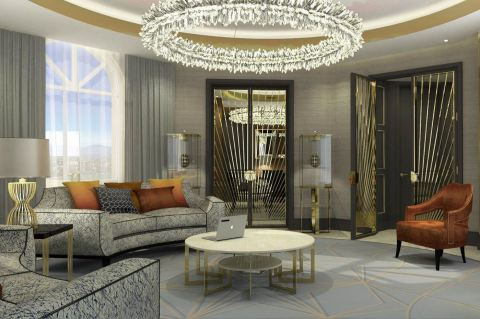 Rendering of the Presidential Suite Living Room, The Alexander, a Luxury Collection Hotel, Yerevan (Photo: Business Wire)
