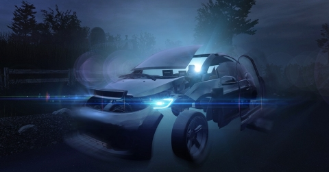 Virtual reality experience at CES: During a virtual tour at the Osram booth, CES visitors will experience the newest car technologies and learn how an autonomous car detects its surroundings (Photo: Business Wire)