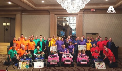 Axalta and GoBabyGo! retrofitted and presented six families with toy cars that address each toddler' ...