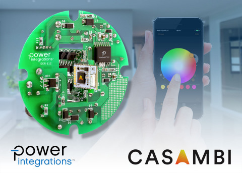 Power Integrations and Casambi Technologies showcase color-adjustable smart lighting reference desig ...