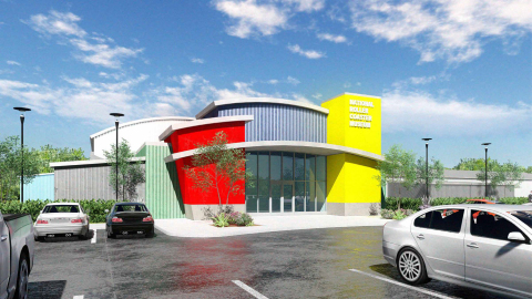 Rendering of the Mark Moore Memorial Wing of the National Roller Coaster Museum. (Photo: Business Wire)