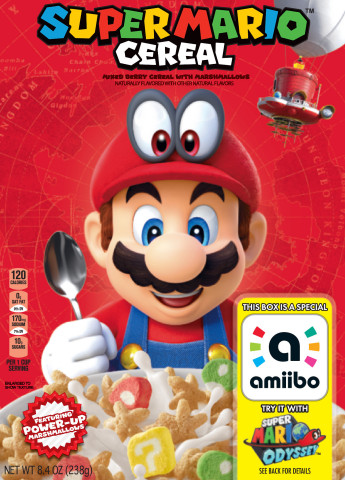 With Super Mario™ Cereal, Nintendo and Kellogg's® have teamed up to take fans on a breakfast odyssey ...