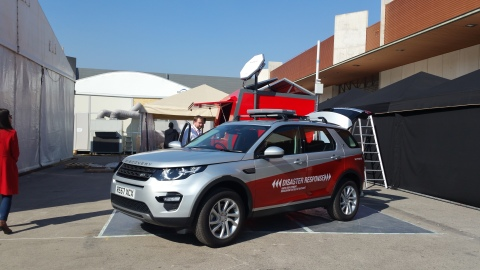 Kymeta's Mobile Rapid Response Vehicle is designed for fast deployment, and reliable connectivity fo ...