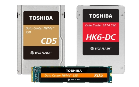Toshiba Memory Corporation: Data Center SSD Line-up with 64-Layer 3D Flash Memory (Photo: Business W ...
