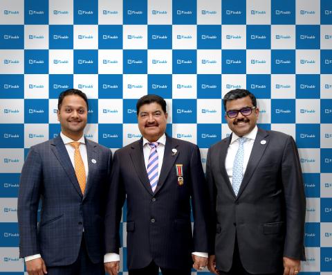 Finablr Leadership Team (L-R): Binay Shetty (Executive Director, Finablr), Dr. B.R. Shetty (Founder  ...