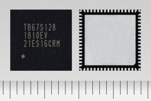 """Toshiba: a bipolar stepping motor driver """"TB67S128FTG"""" with a 50V/5A rating and support for 128 micr ..."""