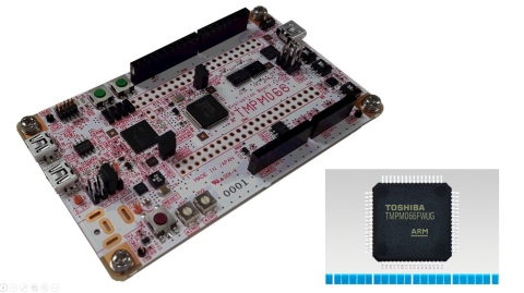 "Toshiba: A microcontroller ""TMPM066FWUG"" supporting Arm Mbed OS and Mbed evaluation board ""AdBun-M06 ..."