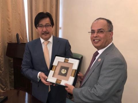 The Al-Farabi Kazakh National University (KazNU) Rector, Professor Galimkair Mutanov, of the Republi ...